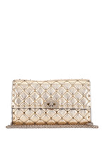 Valentino Garavani - Rockstud Spike It Gold Quilted Crossbody