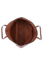 Valentino Garavani - Rockstud Cognac Leather Studded Tote