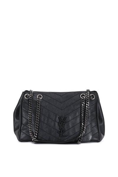 Saint Laurent - Nolita Monogram Black Vintage Leather Large Bag