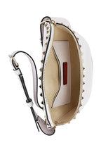 Valentino Garavani - Rockstud Bianco Pebbled Leather Belt Bag