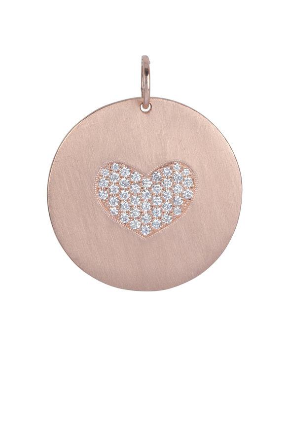 Julez Bryant 14K Rose Gold Medallion Heart Pendant