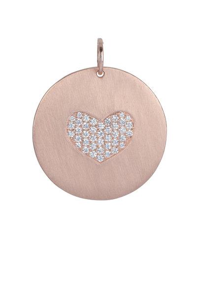 Julez Bryant - 14K Rose Gold Medallion Heart Pendant