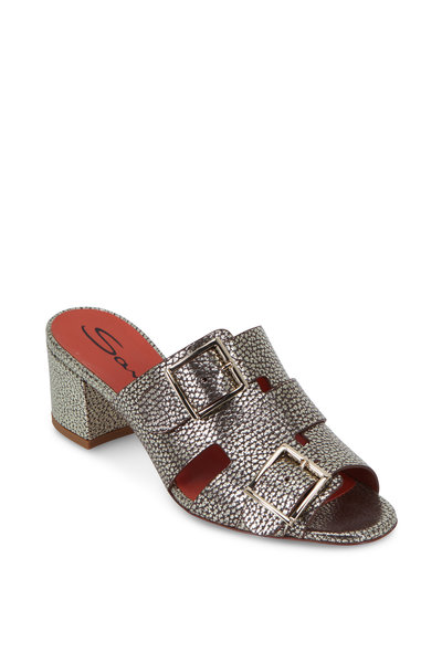 Santoni - Manet Burnished Gold Two-Buckle Slide, 50mm