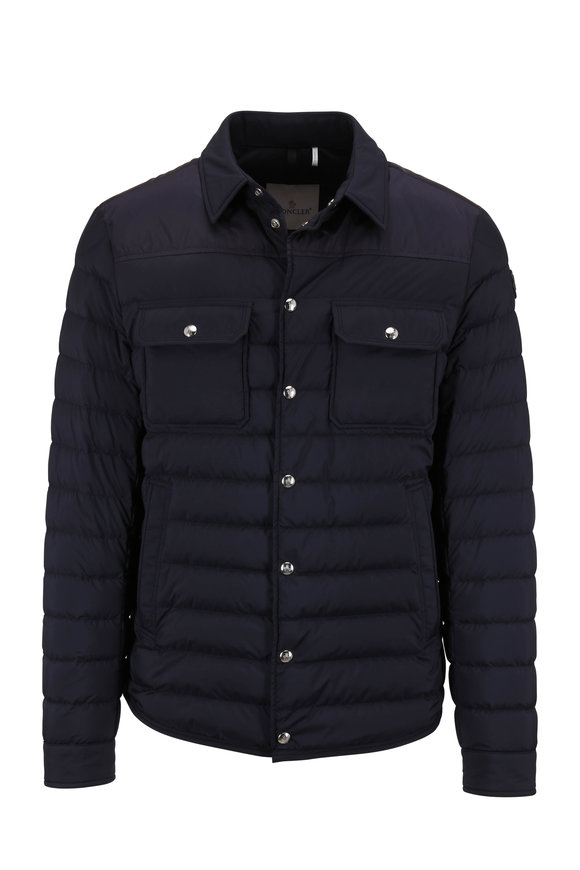 Moncler Valton Navy Quilted Down Jacket