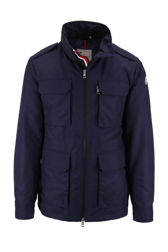 Moncler Navy Blue Down Field Jacket