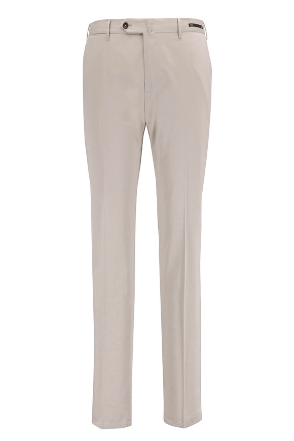 PT Torino Sand Stretch Cotton & Silk Slim Fit Pant