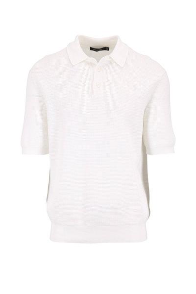 Ermenegildo Zegna - White Banded Hem Pocket Polo