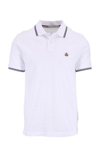 Moncler - White Tipped Knit Polo