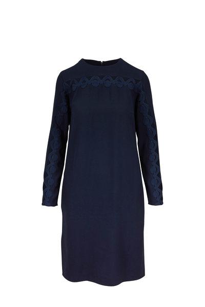 Akris Punto - Navy Blue Cut-Out Long Sleeve Dress