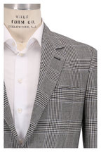 Brunello Cucinelli - Navy Blue Linen & Wool Blend Plaid Sportcoat