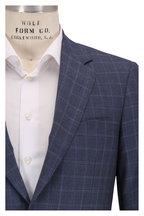 Canali - Gray & Blue Windowpane Plaid Wool Suit