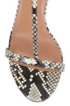 Aquazzura - Almost Bare Roccia Snakeskin Sandal, 75mm