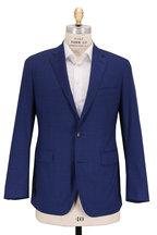Atelier Munro - Solid Medium Blue Wool Suit