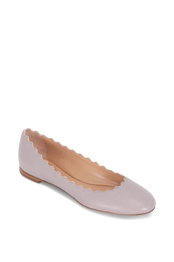 Chloé Lauren Elephant Gray Scallop Ballet Flat