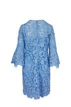 Lela Rose - Sky Blue Flutter Sleeve Tunic Dress