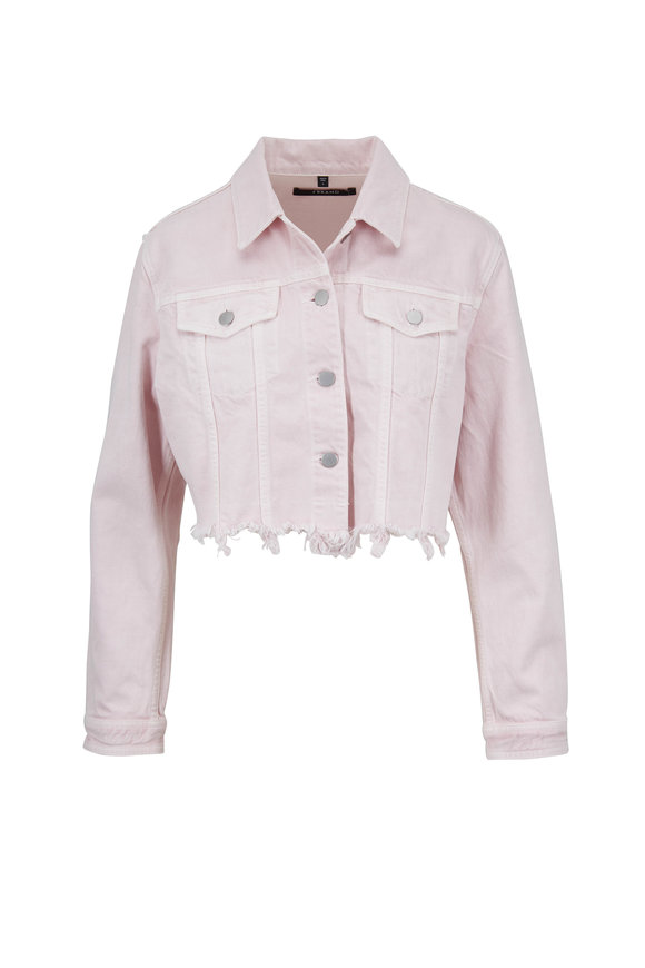 J Brand Cyra Blush Cropped Denim Jacket