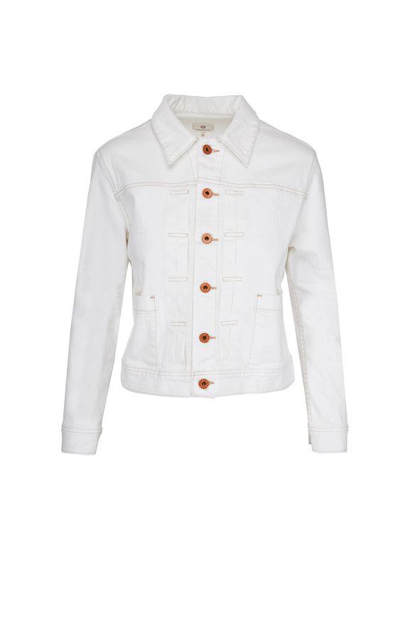 AG - Adriano Goldschmied Eliette White Denim Jacket