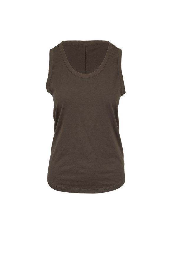 AG - Adriano Goldschmied Cambria Ash Green Stretch Cotton Tank