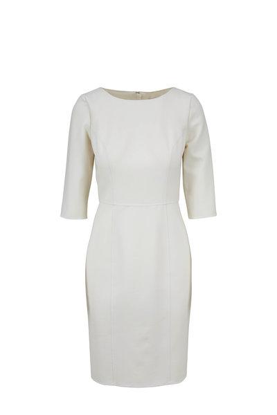 Carolina Herrera - Ivory Double Face Wool Dress