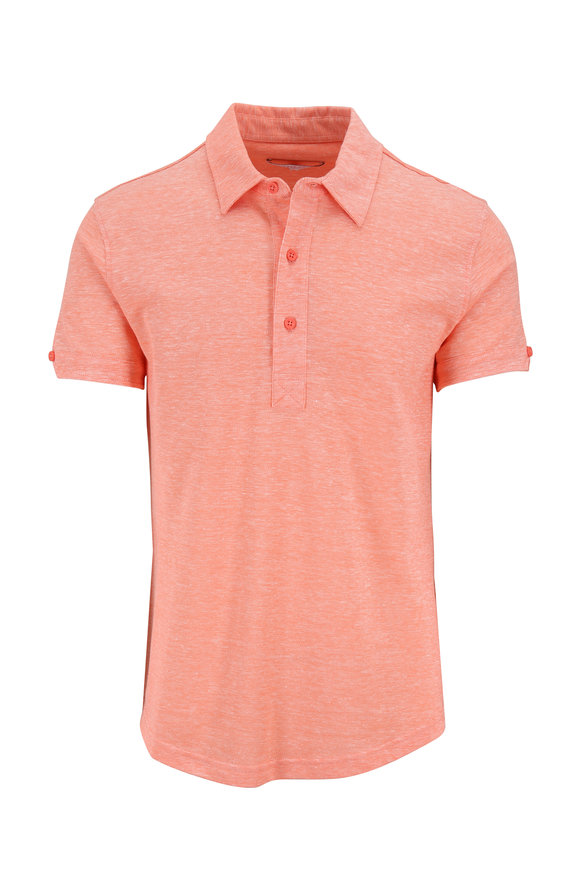 Orlebar Brown Sebastian Hot Coral Tailored Fit Polo