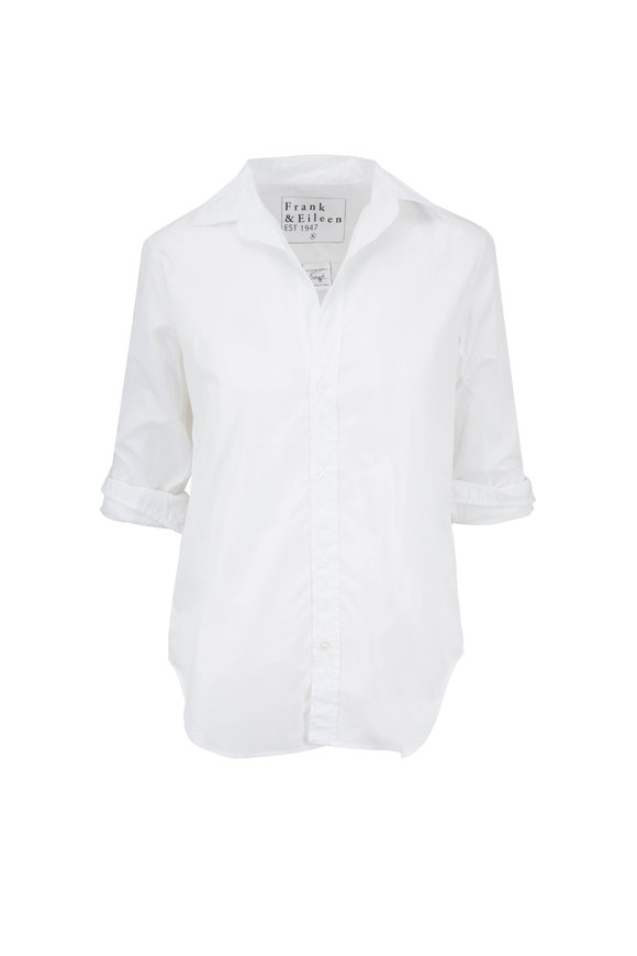 Frank & Eileen Frank White Cotton Button Down Shirt