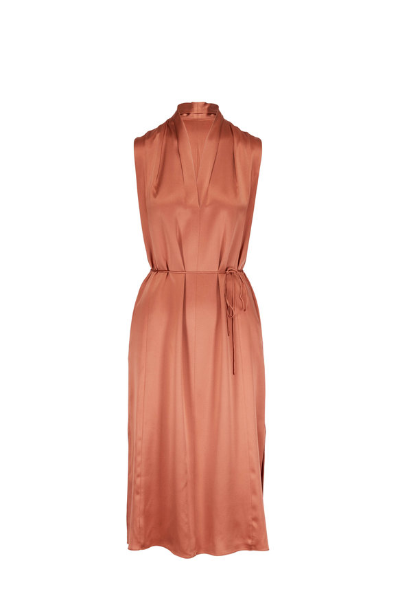 Vince Rose Gold Sleeveless Dress