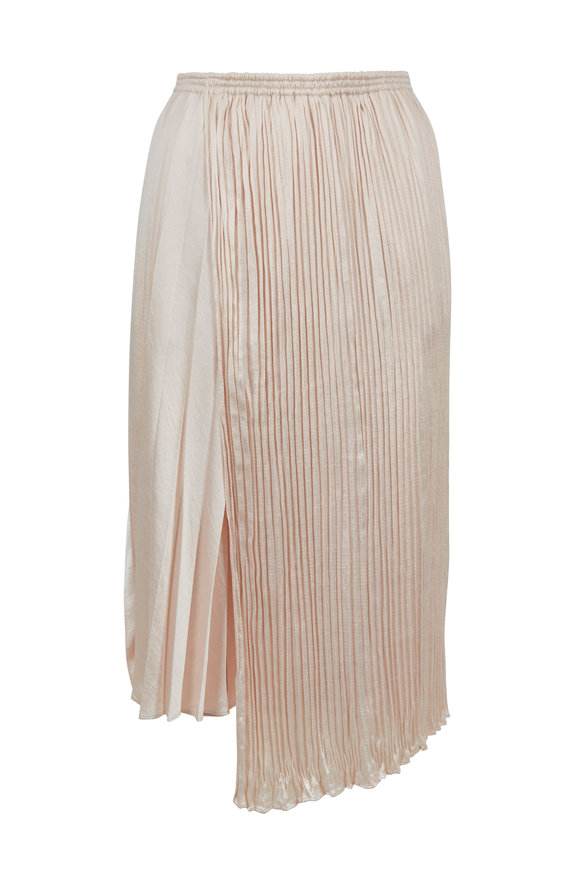 Vince Pale Alder Mixed Pleat Skirt