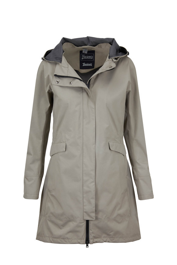 Herno Taupe Two Ply Gortex Raincoat