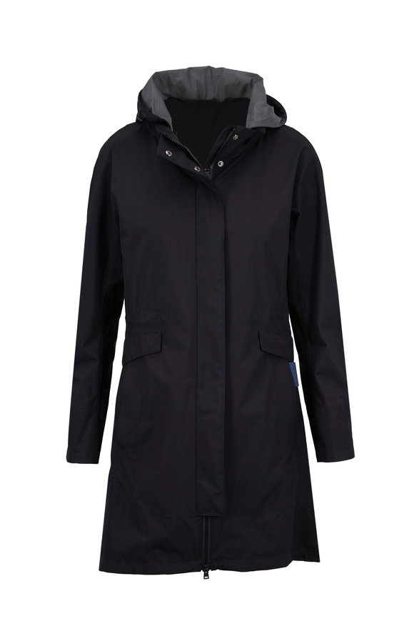 Herno Black Two Ply Gortex Raincoat