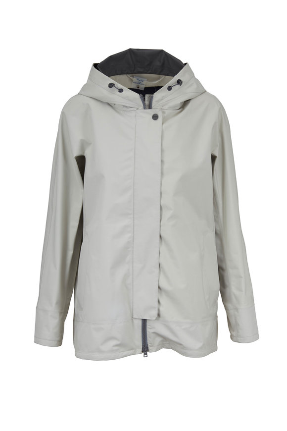 Herno Sand Gortex High-Low Hooded Raincoat