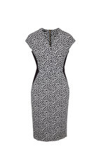 Escada - Delivia Charcoal Stretch Jersey Cap-Sleeve Dress