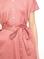 CO Collection - Dusty Rose Self-Belt Dress