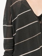 Brunello Cucinelli - Onyx Striped Drawstring Waist Cardigan