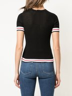 Rag & Bone - Artic Black Cotton Ribbed T-Shirt