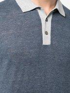 Brunello Cucinelli - Blue Linen & Cotton Polo