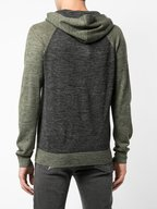 Vince - Army Green & Gray Colorblock Hoodie