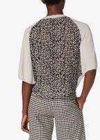 Derek Lam - Bone Cashmere With Silk Back Batwing Sweater