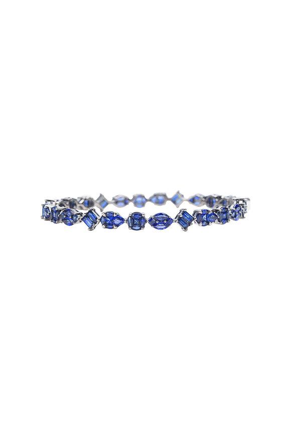Nam Cho 18K White Gold Invisible Sapphire Bracelet