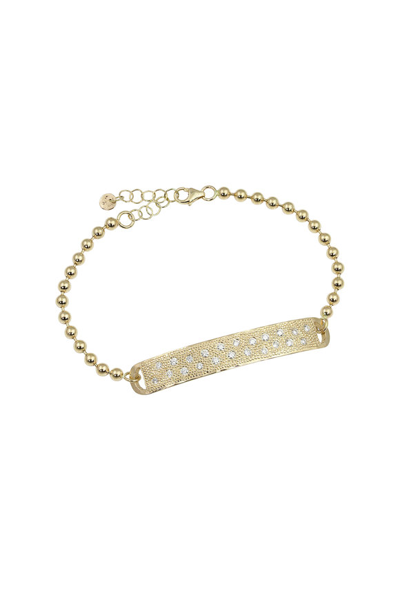 Julez Bryant 14K Yellow Gold Pavé Bar Bracelet