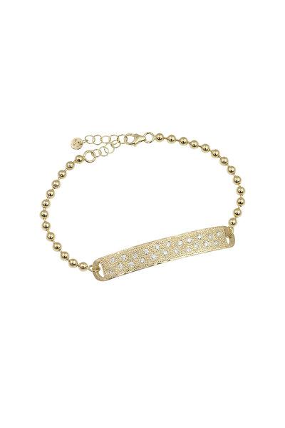 Julez Bryant - 14K Yellow Gold Pavé Bar Bracelet