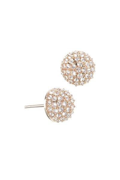 Nam Cho - 18K Rose Gold Balls Diamond Post Earrings