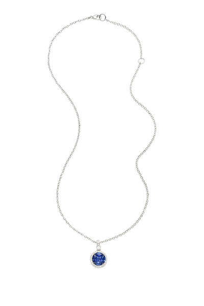 Nam Cho - 18K White Gold Invisible Sapphire Necklace