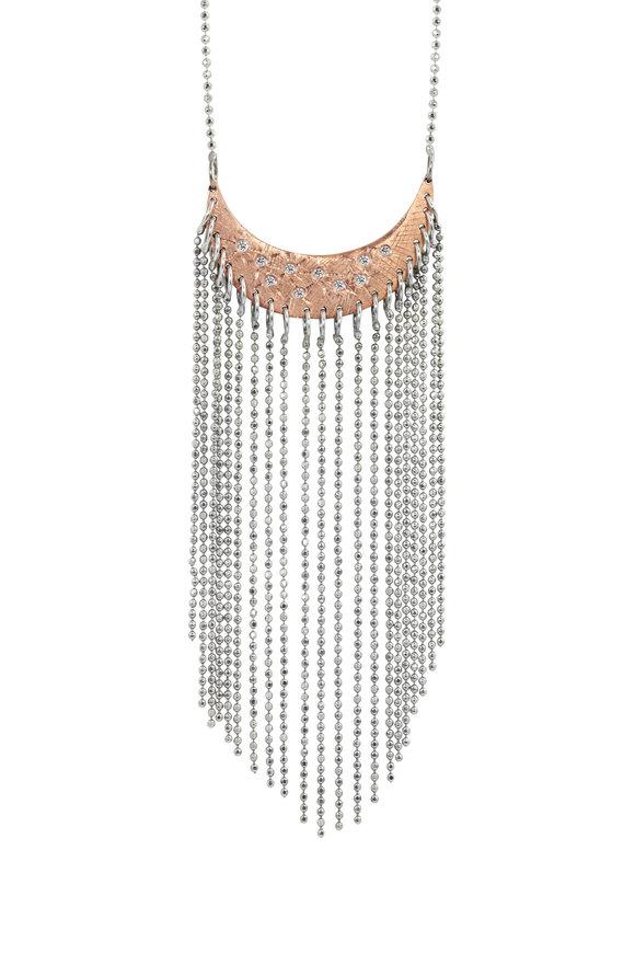 Julez Bryant 14K Rose & White Gold Aldi Diamond Fringe Necklace