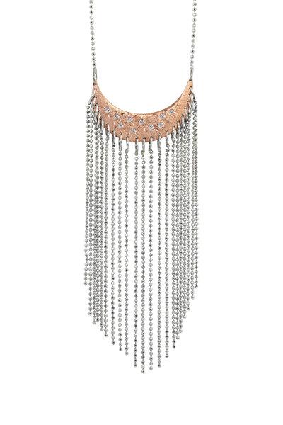 Julez Bryant - 14K Rose & White Gold Aldi Diamond Fringe Necklace