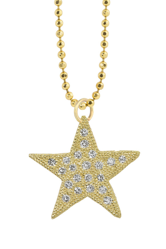 Julez Bryant 14K Yellow Gold Audi Star Pendant Necklace