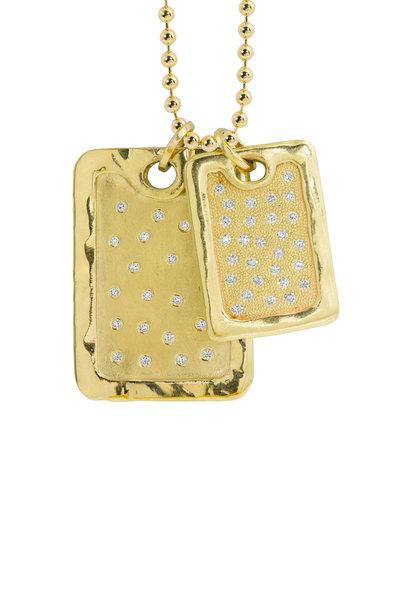 Julez Bryant - 14K Yellow Gold Dani Scattered Diamonds Necklace