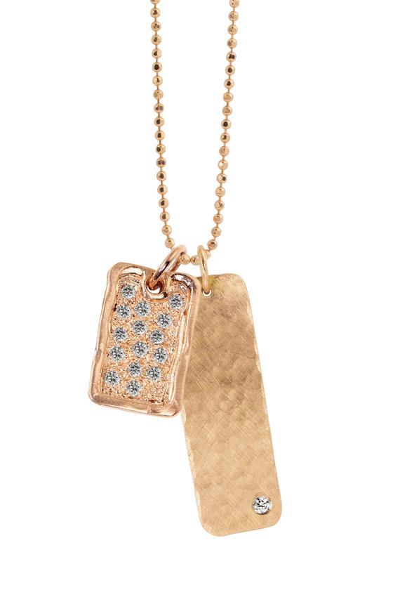 Julez Bryant 18K Rose Gold Deft & Niki Pendant Necklace