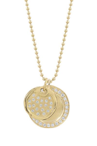 Julez Bryant - 14K Yellow Gold Dini & Dena Round Pendant Necklace