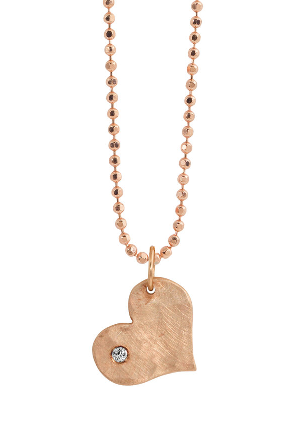 Julez Bryant 14K Rose Gold Lana Single Diamond Heart Necklace