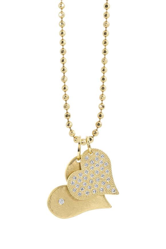 Julez Bryant 14K Yellow Gold Lana & Lava Heart Pendant Necklace